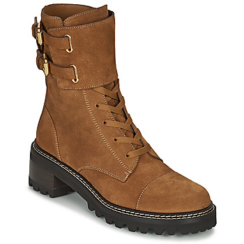 Schuhe Damen Low Boots See by Chloé MALLORY Cognac