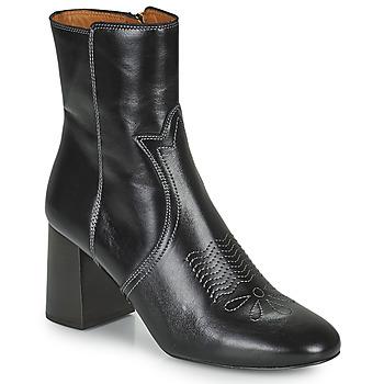 Schuhe Damen Low Boots See by Chloé LIZZI Schwarz
