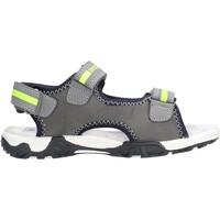 Schuhe Jungen Sandalen / Sandaletten Docksteps - Sandalo grigio/giallo BOXE2 GRIGIO