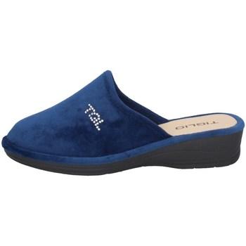 Schuhe Damen Hausschuhe Tiglio 1600 Blau
