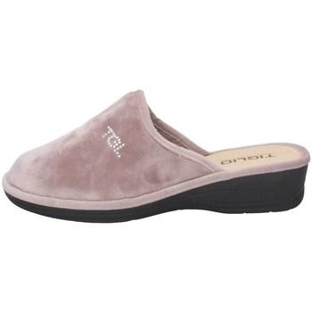 Schuhe Damen Hausschuhe Tiglio 1600 LAVENDEL