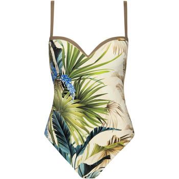 Kleidung Damen Badeanzug Lisca Ensenada  vorgeformter einteiliger Badeanzug Dunkelgrün