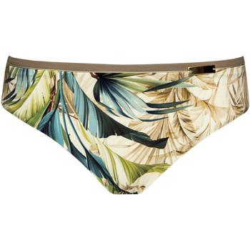 Kleidung Damen Bikini Ober- und Unterteile Lisca Hohe Taille Badeanzug Slip Ensenada Dunkelgrün