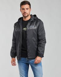 Kleidung Herren Jacken Emporio Armani EA7 TRAIN LOGO SERIES Schwarz