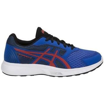 Schuhe Kinder Fitness / Training Asics Stormer GS Rot, Blau