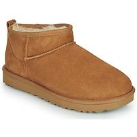 Schuhe Damen Boots UGG Classic Ultra Mini Camel