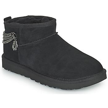 Schuhe Damen Boots UGG Classic Ultra Mini Chains Schwarz