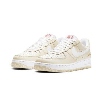Schuhe Sneaker Low Nike Air Force 1 Low Popcorn Coconut Milk/White-University Red