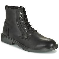 Schuhe Herren Boots Jack & Jones JFW KARL LEATHER BOOT Schwarz