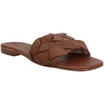 Schuhe Damen Pantoffel Donna Lucca 137327 Braun