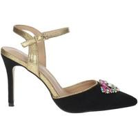 Schuhe Damen Sandalen / Sandaletten Menbur 22362 Schwarz/Gold