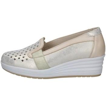 Schuhe Damen Slip on Florance 14615-2 BEIGE