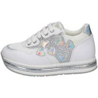 Schuhe Mädchen Sneaker Low Asso AG-10400 WEISS