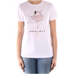 Kleidung Damen T-Shirts Manila Grace T003CU WEISS