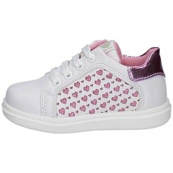 Schuhe Mädchen Sneaker Low Asso AG-10381 WEISS