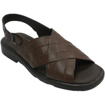 Schuhe Herren Sandalen / Sandaletten Calzados Fuensalida Sandalen mit geflochtenen Trägern für He Braun