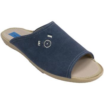 Schuhe Herren Hausschuhe Made In Spain 1940 Herren Flip Flops Alberola marineblau Blau