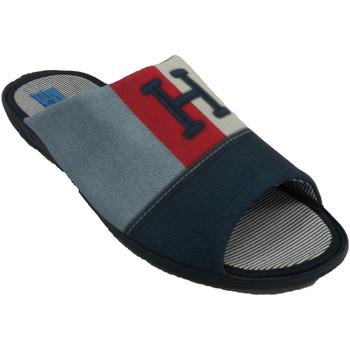 Schuhe Herren Hausschuhe Made In Spain 1940 Flip-Flops Sommermann zu Hause zu sein A Blau