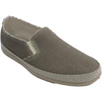 Schuhe Herren Leinen-Pantoletten mit gefloch Made In Spain 1940 Canvas-Sneakers für Herren, die Hanfbesa Beige