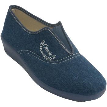Schuhe Damen Hausschuhe Aguas Nuevas Geschlossene Gummi-Rist-Sneakers für Dam Blau