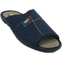 Schuhe Herren Hausschuhe Aguas Nuevas Mann offene Zehen Fersenpantoffeln Aguas Blau