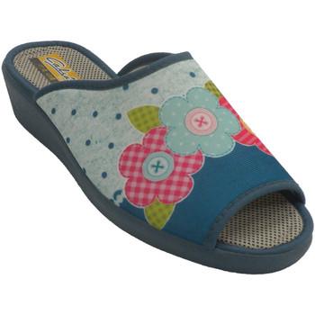 Schuhe Damen Hausschuhe Aguas Nuevas Sneaker mit offener Zehenferse für Fraue Blau