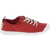 Schuhe Damen Sneaker Low Palladium Manufacture Easy Lace Rouge Rot