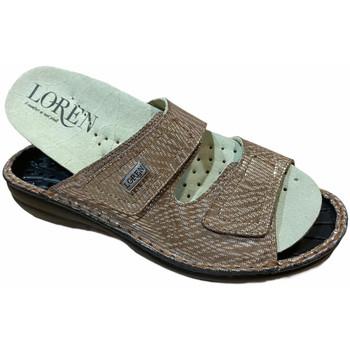Schuhe Damen Pantoffel Calzaturificio Loren LOM2829scuoio marrone