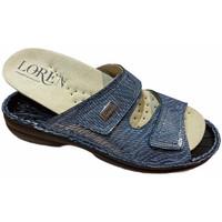 Schuhe Damen Pantoffel Calzaturificio Loren LOM2829sjeans blu