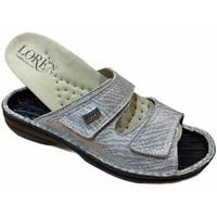 Schuhe Damen Pantoffel Calzaturificio Loren LOM2829zsabbia blu