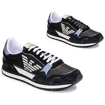 Schuhe Herren Sneaker Low Emporio Armani ANIMA Schwarz / Blau
