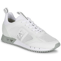 Schuhe Sneaker Low Emporio Armani EA7 BLACK&WHITE LACES Weiss