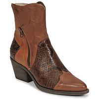 Schuhe Damen Low Boots Casta DOST Cognac