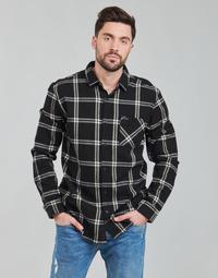 Kleidung Herren Langärmelige Hemden Rip Curl CHECKED OUT L/S FLANNEL Schwarz