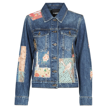Kleidung Damen Jeansjacken Desigual JAPO PATCH Blau