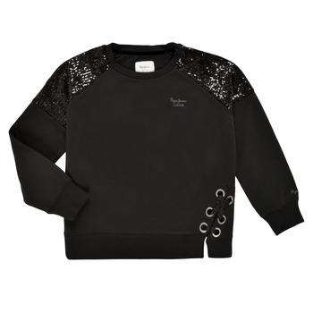 Kleidung Mädchen Sweatshirts Pepe jeans ELENA Schwarz