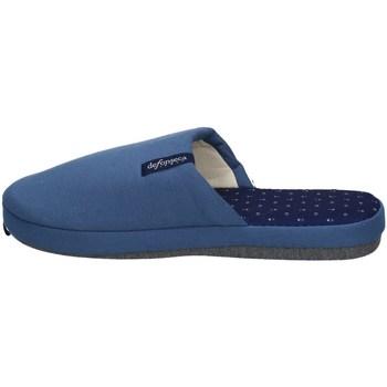 Schuhe Herren Hausschuhe De Fonseca ROMA TOP E M711 BLAU UND HELLBLAU