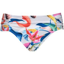 Kleidung Damen Bikini Ober- und Unterteile Lisca Hohe Taille Badeanzug Slip Nizza Hellgrau Clair