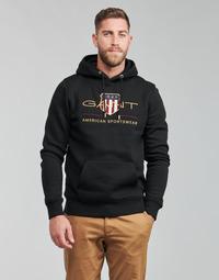 Kleidung Herren Sweatshirts Gant ARCHIVE SHIELD HOODIE Schwarz