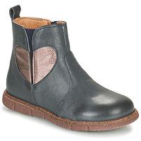 Schuhe Mädchen Boots Bisgaard MAGGIE Marine / Silbern