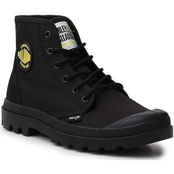 Schuhe Damen Boots Palladium Manufacture Hi Be Kind  77079-008-M schwarz