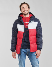 Kleidung Herren Daunenjacken Fila SCOOTER PUFFER JACKET Rot / Marine / Weiss