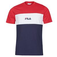 Kleidung Herren T-Shirts Fila ANOKI Rot / Marine / Weiss
