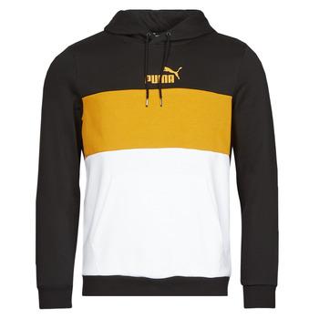 Kleidung Herren Sweatshirts Puma ESS+ COLORBLOCK HOODIE FL Schwarz / Gelb