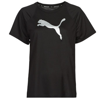 Kleidung Damen T-Shirts Puma EVOSTRIPE TEE Schwarz