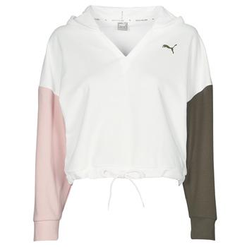Kleidung Damen Sweatshirts Puma MODERN SPORT HOODIE Weiss / Multicolor