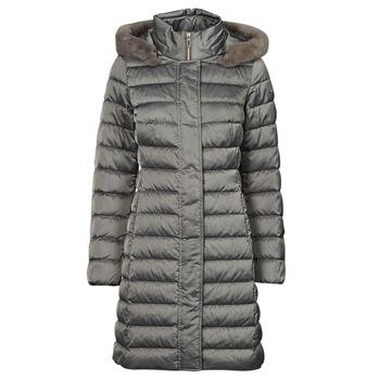 Kleidung Damen Daunenjacken Geox W BETTANIE LONG JKT Silbern