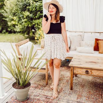 Kleidung Damen Röcke Céleste EGLANTINE Naturfarben / Schwarz
