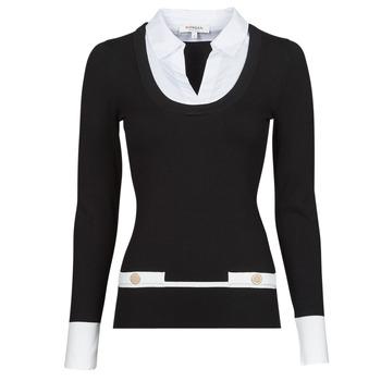 Kleidung Damen Pullover Morgan MFLO Schwarz / Weiss