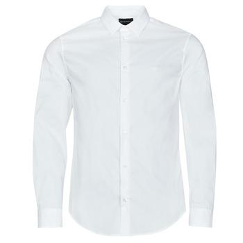 Kleidung Herren Langärmelige Hemden Emporio Armani 8N1C09 Weiss